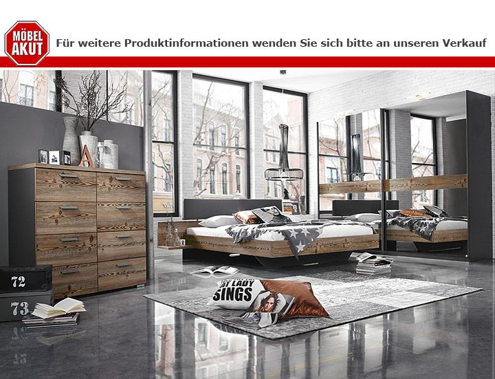 bett montreal l rche natur lederlook basalt 180x200 cm. Black Bedroom Furniture Sets. Home Design Ideas