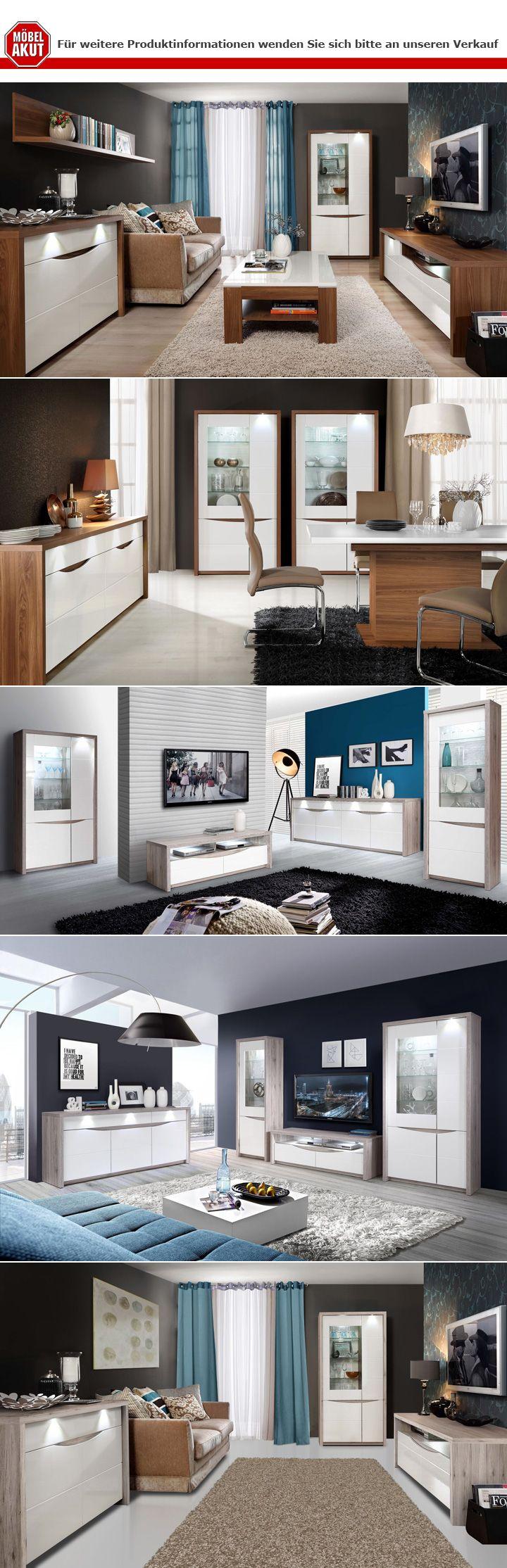 vitrine saint tropez wei hochglanz sandeiche mit led. Black Bedroom Furniture Sets. Home Design Ideas