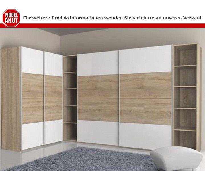 schwebet renschrank starlet plus sonoma eiche und wei. Black Bedroom Furniture Sets. Home Design Ideas