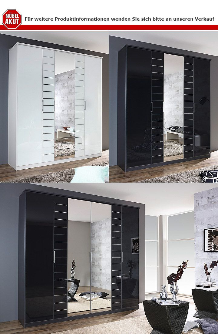 kleiderschrank telde grau metallic glas basalt b 226 cm. Black Bedroom Furniture Sets. Home Design Ideas