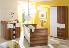 Babyzimmer WIKI 3-tlg Walnuss und Weiß