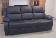 Sofa LAKOS 3 Sitzer Polstermöbel in braun mit Funktion