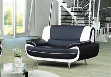 2er Sofa OPERO Schwarz und Weiß