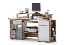 computertisch marcus baltimore walnuss wei. Black Bedroom Furniture Sets. Home Design Ideas