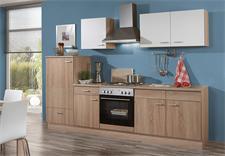 Küchenzeile SONEA Sonoma Eiche weiß mit E-Geräten