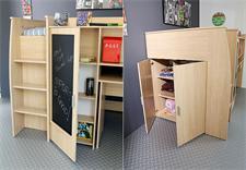 hochbett jack mit schreibtisch kleiderschrank baltic eiche. Black Bedroom Furniture Sets. Home Design Ideas