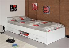 Bett MEGA 90x200cm Jugendbett in weiß mit Schubkästen
