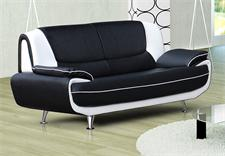 3er Sofa OPERO Schwarz und Weiß