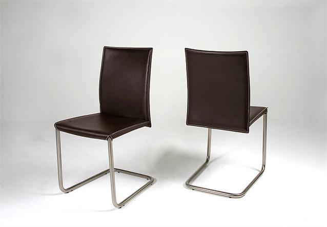 2er set stuhl nivo schwingstuhl freischwinger in schwarz echtes leder neu ebay. Black Bedroom Furniture Sets. Home Design Ideas