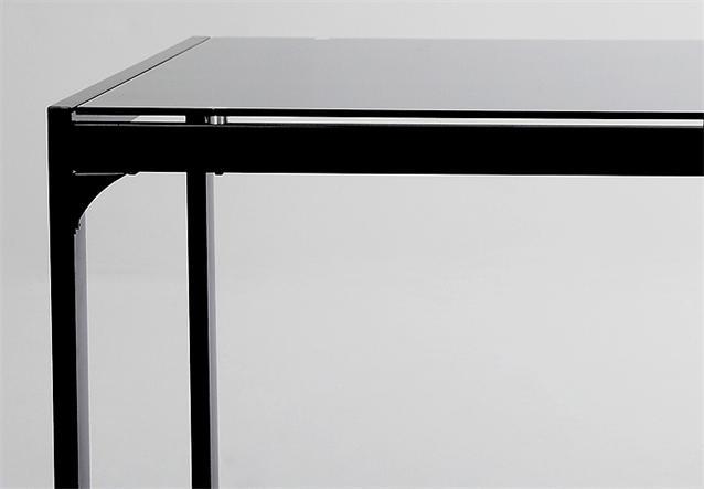esstisch sylan tisch esszimmertisch in schwarz glas 160x90 ebay. Black Bedroom Furniture Sets. Home Design Ideas