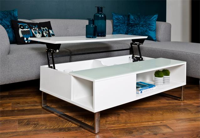 couchtisch azalea wohnzimmer tisch mit hebeplatte hochglanz wei lackiert glas ebay. Black Bedroom Furniture Sets. Home Design Ideas