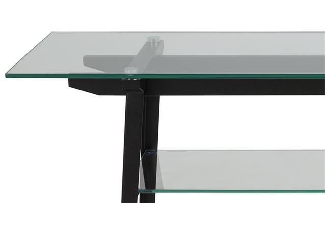 konsolentisch monti glas metall schwarz beistelltisch glastisch anrichte tisch ebay. Black Bedroom Furniture Sets. Home Design Ideas