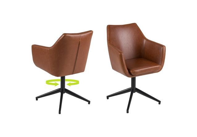 Stuhl nora armstuhl drehgestell esszimmer in vintage for Design stuhl nora