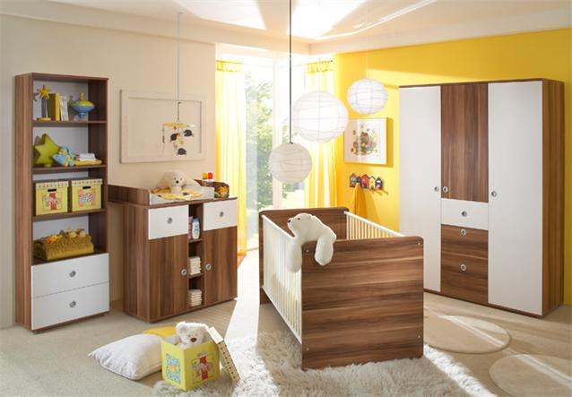 wickelkommode wiki babyzimmer kommode in wei und walnuss ebay. Black Bedroom Furniture Sets. Home Design Ideas
