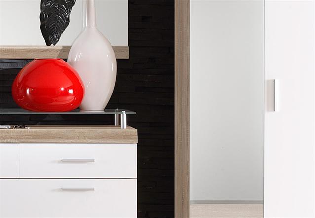 4 teiliges garderoben set imperial 1 flurm bel in eiche. Black Bedroom Furniture Sets. Home Design Ideas