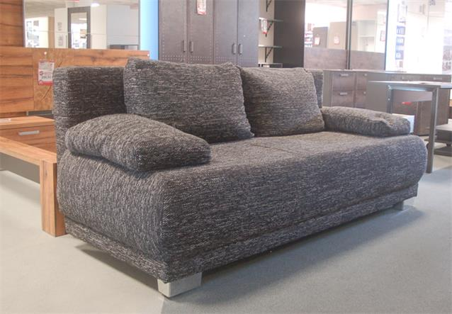 schlafsofa work funktionssofa in webstoff schwarz mit bettkasten ebay. Black Bedroom Furniture Sets. Home Design Ideas