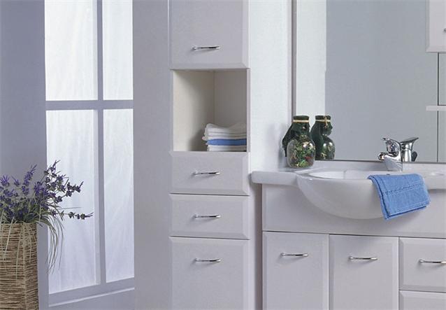 schrank lasko seitenschrank badm bel badezimmer wei hochglanz ebay. Black Bedroom Furniture Sets. Home Design Ideas