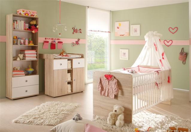 babybett wiki kinderbett gitterbett in sonoma eiche s gerau und wei ebay. Black Bedroom Furniture Sets. Home Design Ideas