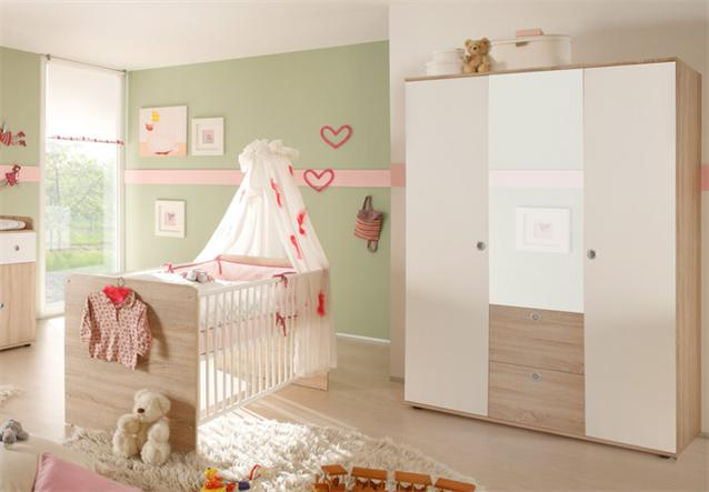 babyzimmer 4 teilig wiki kinderzimmer sonoma eiche s gerau und wei komplettset ebay. Black Bedroom Furniture Sets. Home Design Ideas