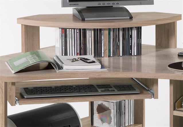schreibtisch eckschreibtisch tanga in eiche sonoma computer pc b ro jugendzimmer ebay. Black Bedroom Furniture Sets. Home Design Ideas