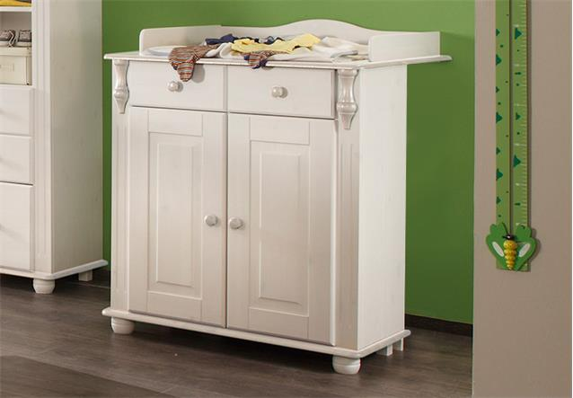 wickelkommode lara ii in kiefer massiv wei wachs wickeltisch kommode ebay. Black Bedroom Furniture Sets. Home Design Ideas