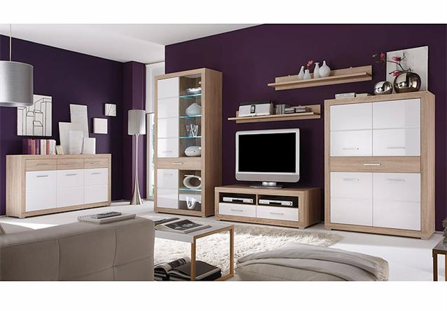 sideboard fiesta kommode sonoma eiche wei neu ebay. Black Bedroom Furniture Sets. Home Design Ideas