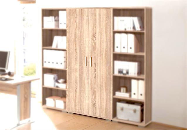 aktenschrank b ro arbeitszimmer office line b roschrank sonoma eiche ebay. Black Bedroom Furniture Sets. Home Design Ideas