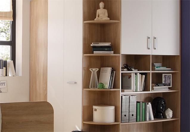 begehbarer eckschrank corner kleiderschrank schrank sonoma eiche wei ebay. Black Bedroom Furniture Sets. Home Design Ideas