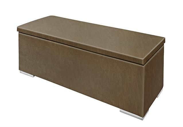 sitzbank chest truhe schlafzimmer stoff tobago dunkelbraun deckel gepolstert bielefeld. Black Bedroom Furniture Sets. Home Design Ideas