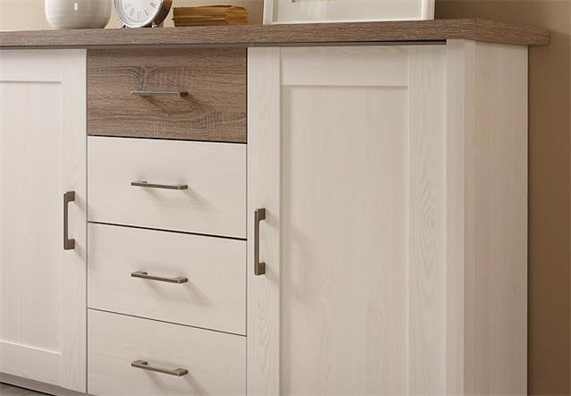 sideboard luca kommode anrichte in pinie wei und tr ffel 150 cm breit ebay. Black Bedroom Furniture Sets. Home Design Ideas