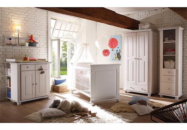 wickelkommode laura kommode babyschrank kiefer massiv in wei und lava ebay. Black Bedroom Furniture Sets. Home Design Ideas