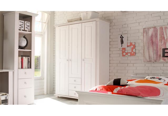 kleiderschrank laura kinderzimmer schrank kiefer massiv in. Black Bedroom Furniture Sets. Home Design Ideas
