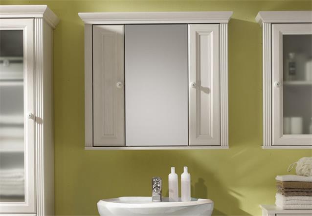 Badezimmer jasmin 5 tlg waschbecken schrank spiegel in for Badezimmer jasmin