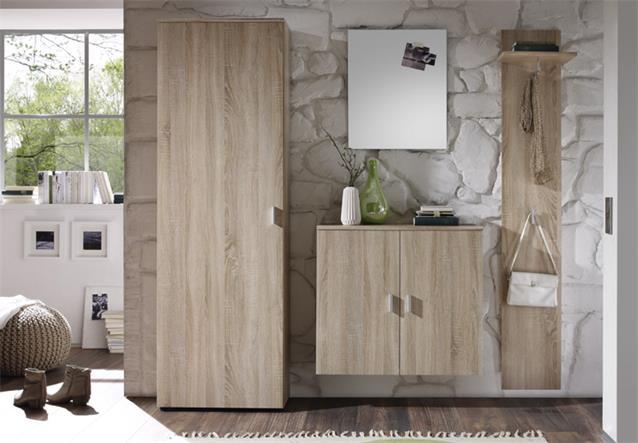 garderoben set lilly 4 teilig sonoma eiche schrank. Black Bedroom Furniture Sets. Home Design Ideas