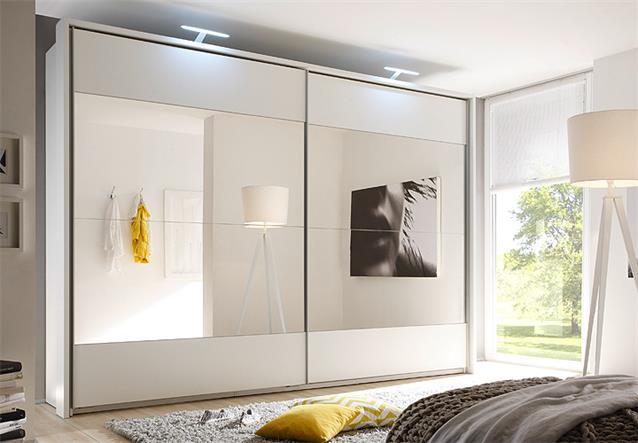 schwebet renschrank helena kleiderschrank schrank in wei mit spiegel 315 cm ebay. Black Bedroom Furniture Sets. Home Design Ideas
