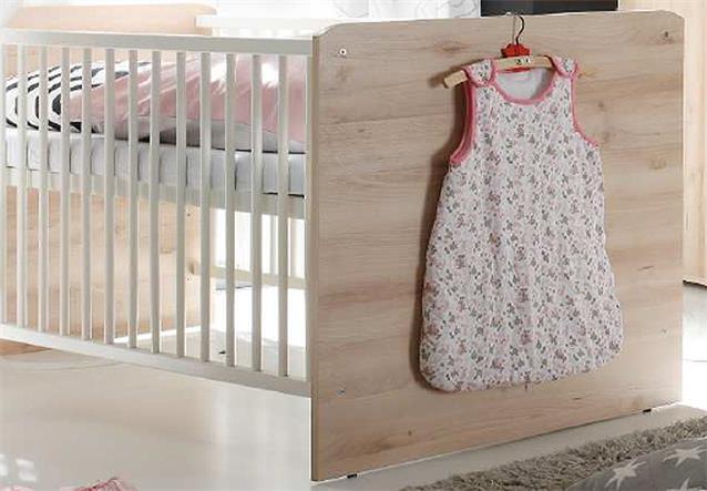 babybett wiki babyzimmer kinderbett gitterbett in edelbuche und wei ebay. Black Bedroom Furniture Sets. Home Design Ideas