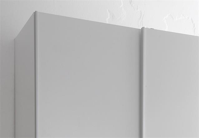 schwebet renschrank colori kleiderschrank schrank wei und glas blau grau 125 cm ebay. Black Bedroom Furniture Sets. Home Design Ideas