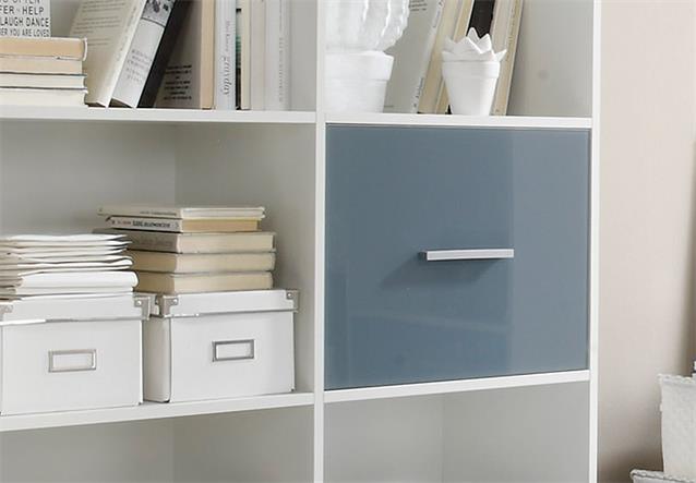 b cherregal breit colori regal schrank wei und glas blau. Black Bedroom Furniture Sets. Home Design Ideas