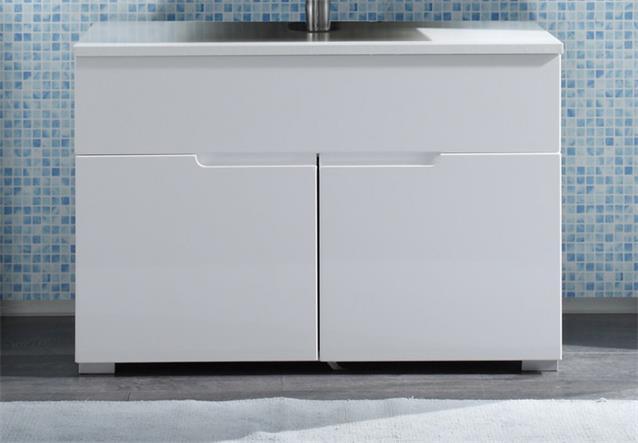 waschbeckenunterschrank spice badezimmer badm bel bad schrank wei hochglanz ebay. Black Bedroom Furniture Sets. Home Design Ideas