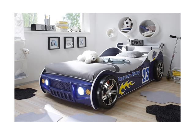 autobett energy bett kinderbett in blau inkl led beleuchtung ebay. Black Bedroom Furniture Sets. Home Design Ideas