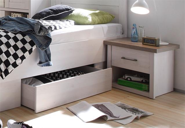 Jugendzimmer luca 7 teilig pinie wei mit schreibtisch for Jugendzimmer 7 qm
