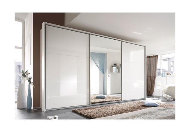 schwebet renschrank mia schrank kleiderschrank in hochglanz wei 400 ebay. Black Bedroom Furniture Sets. Home Design Ideas