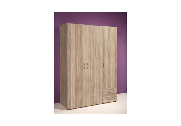 kleiderschrank base dreht renschrank in sonoma eiche breite 120 cm ebay. Black Bedroom Furniture Sets. Home Design Ideas