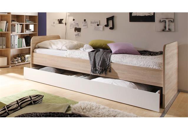 jugendzimmer 5 teilig corner eckschrank jugendbett 3 kommoden sonoma eiche ebay. Black Bedroom Furniture Sets. Home Design Ideas