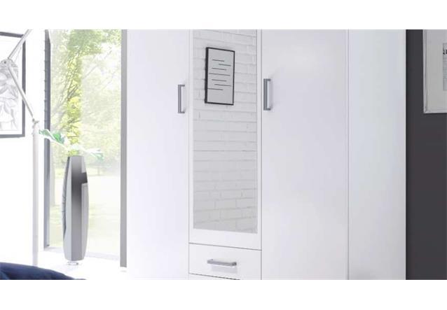 kleiderschrank karl schlafzimmer 2 t riger schrank in wei. Black Bedroom Furniture Sets. Home Design Ideas