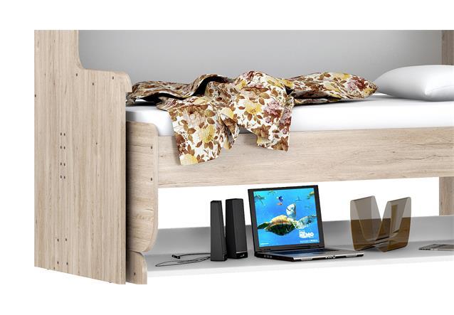 schrankbett dakotas funktionsbett 90x200cm eiche wei schreibtisch klappbett ebay. Black Bedroom Furniture Sets. Home Design Ideas