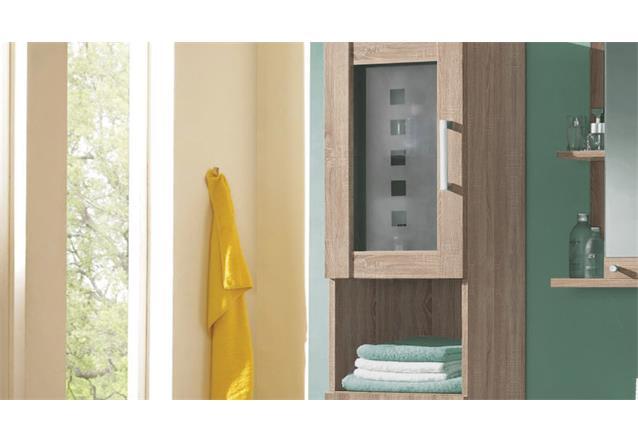 hochschrank pontos badezimmer bad schrank badm bel in sonoma wende front wei. Black Bedroom Furniture Sets. Home Design Ideas