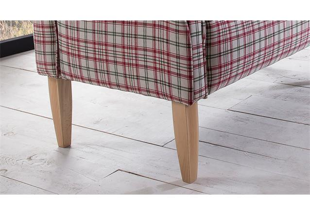 2er k chensofa antoni sofa speisesofa polsterm bel in rot und wei 142 cm breit ebay. Black Bedroom Furniture Sets. Home Design Ideas