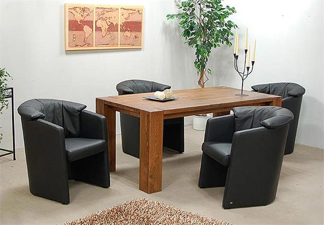 rolf benz cocktailsessel 4er set stuhl st se 390 in leder schwarz ebay. Black Bedroom Furniture Sets. Home Design Ideas