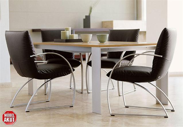 4er set rolf benz st hle stu at 7600 leder schwarz. Black Bedroom Furniture Sets. Home Design Ideas